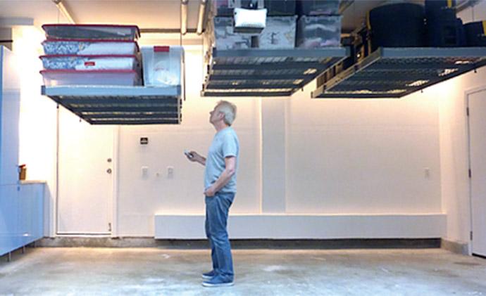 Motorized Garage Storage Smart Garage